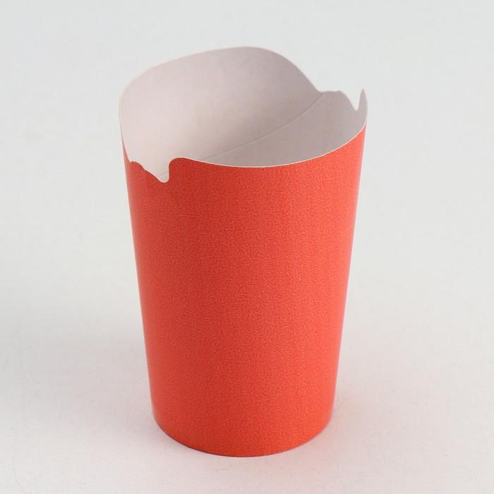 Упаковка для картофеля фри, цвет красный 8 х 6 х 11 см