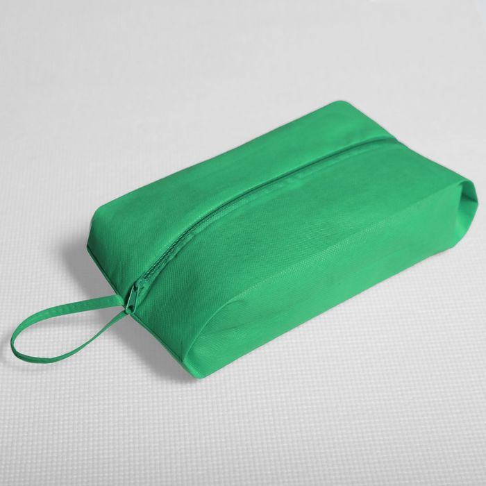 Сумка для обуви, отдел на молнии, цвет зелёный