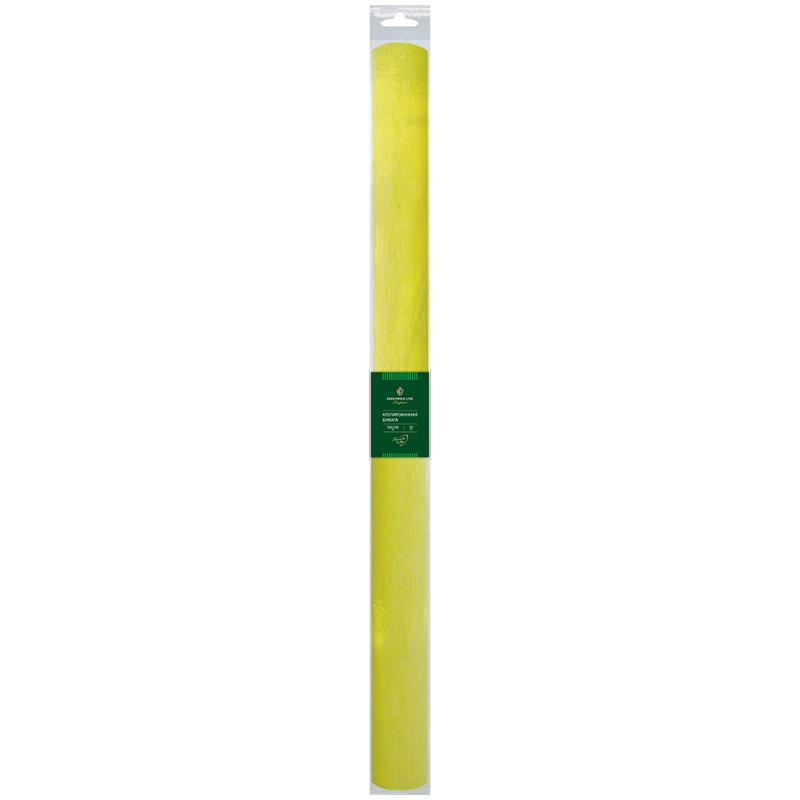 Бумага крепированная Greenwich Line, 50*250см, 32г/м2, лимонная,в рулоне, пакет с европодвесом