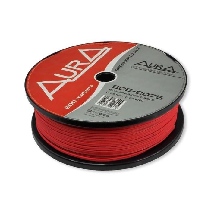 Кабель акустический AURA SCE-2075, 18 Ga, красный
