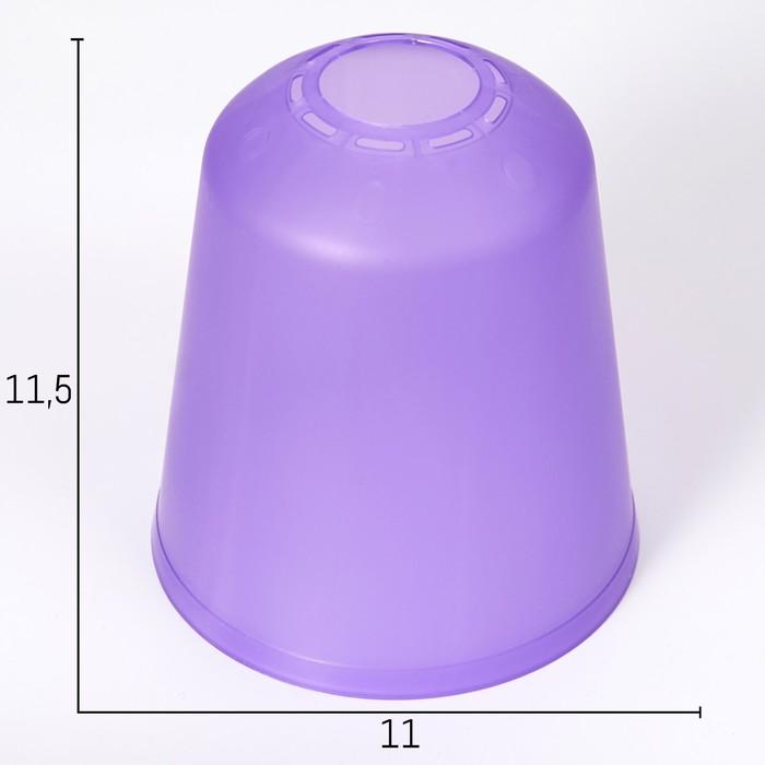"""Плафон универсальный """"Цилиндр""""  Е14/Е27 фиолетовый 11х11х12см"""