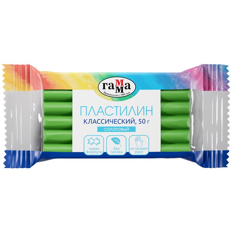 """Пластилин Гамма """"Классический"""", салатовый, 50г"""
