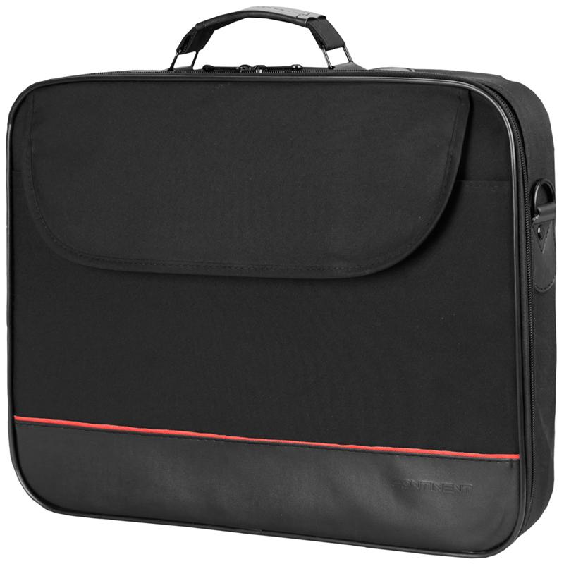 """Сумка для ноутбука 15,6"""" Continent CC-100 BK полиэстер, черный, 415*310*70мм"""