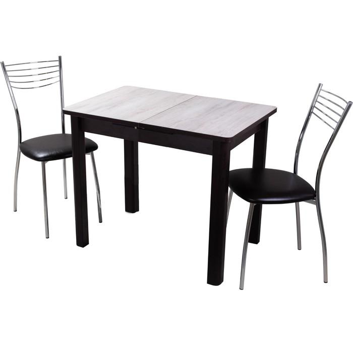 Обеденная группа, стол Джаз и 2 стула Омега 1, столешница 22мм, 880(1250)х600х750