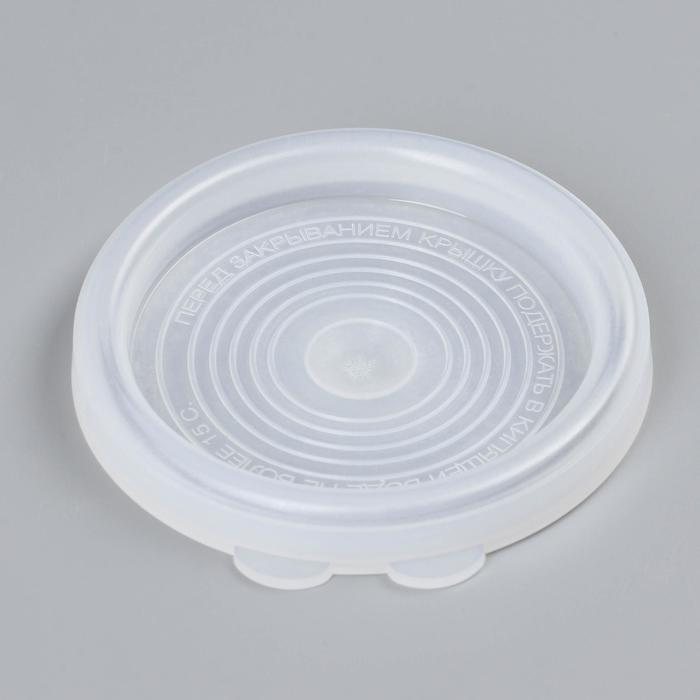 Крышкa для горячего консервировaния, d=8 см, ПЭТ 1-82, цвет белый
