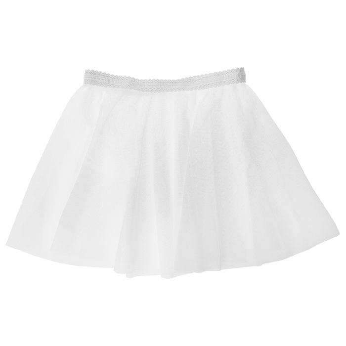 Юбочка гимнастическая, сетка, размер 28-30 (XS), цвет белый