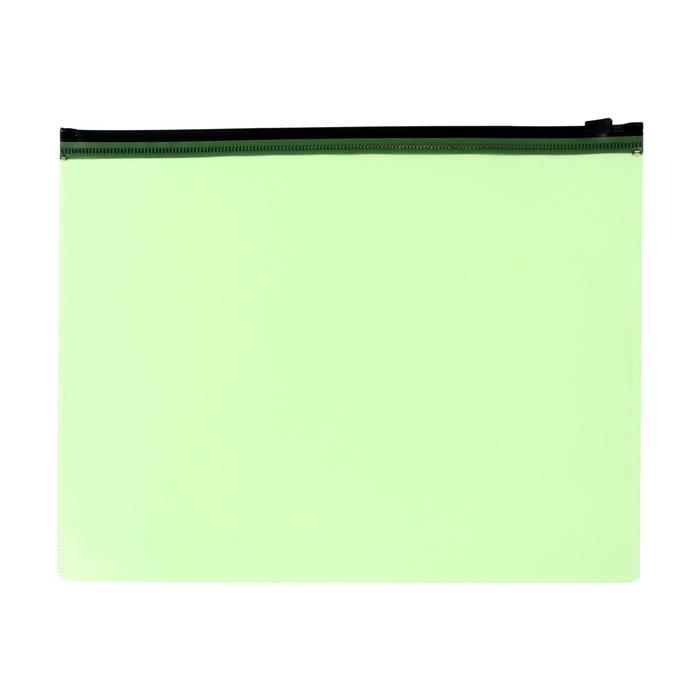 Папка-конверт на молнии ZIP А5 150мкм Calligrata салатовый неон
