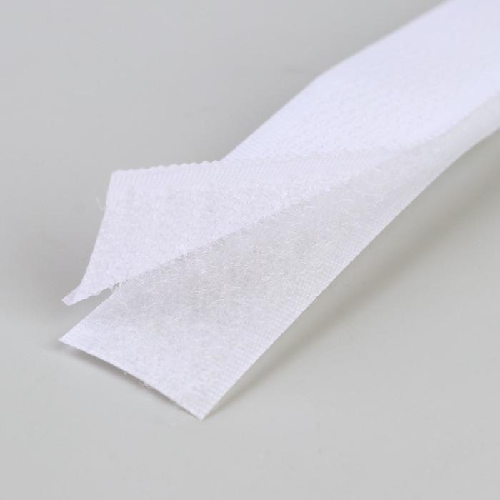 Липучка, 20 мм ? 25 см, цвет белый