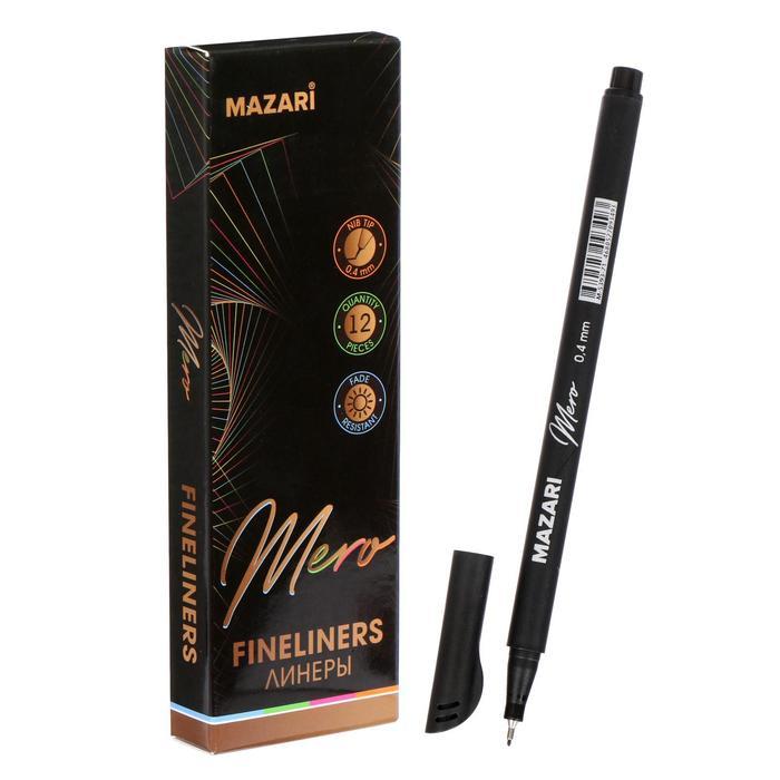 Ручка капилярная Mazari Mero, 0.4 мм, чёрная