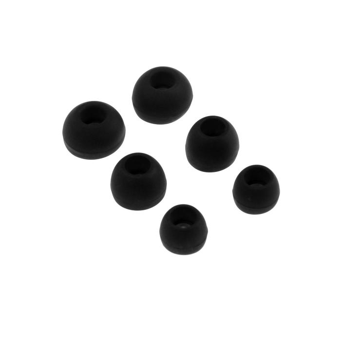 Комплект амбушюр Krutoff, для наушников, 3 пары, размер S, M, L, черные