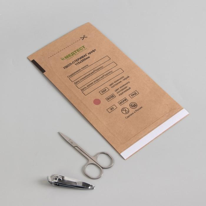 Крафт-пакет для стерилизации, 115 ? 200 мм, цвет коричневый