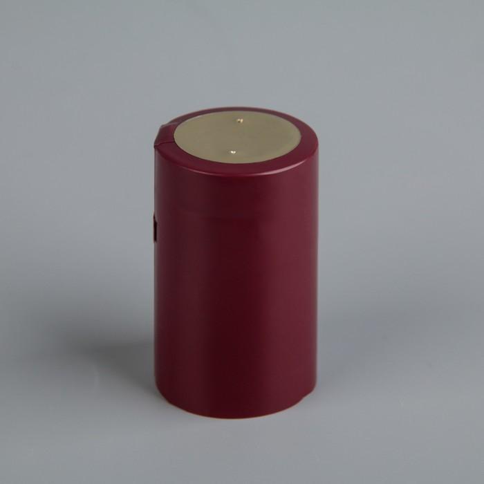 Термоусадочный колпачок 30?50, бордовый с топ диском