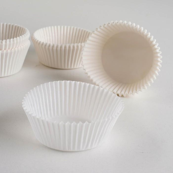 Форма для выпечки белая, 5 х 2,5 см