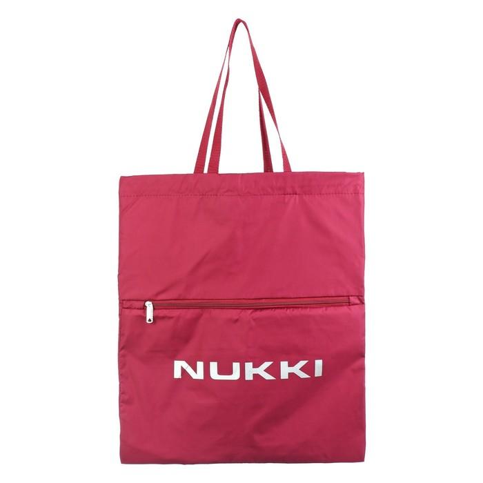 Сумка-рюкзак Nukki №63 51*41 см, бордовый