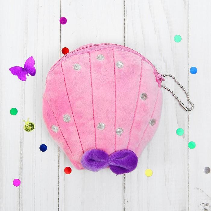 Мягкий кошелёк «Ракушка с бантиком», цвета МИКС