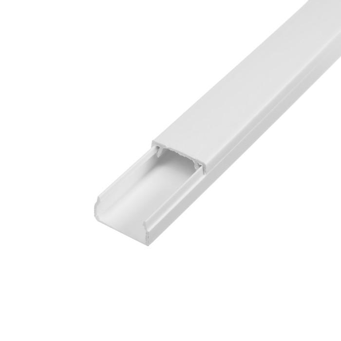 Кабель-канал EKF Basic, 2 м, 20х10 мм, белый