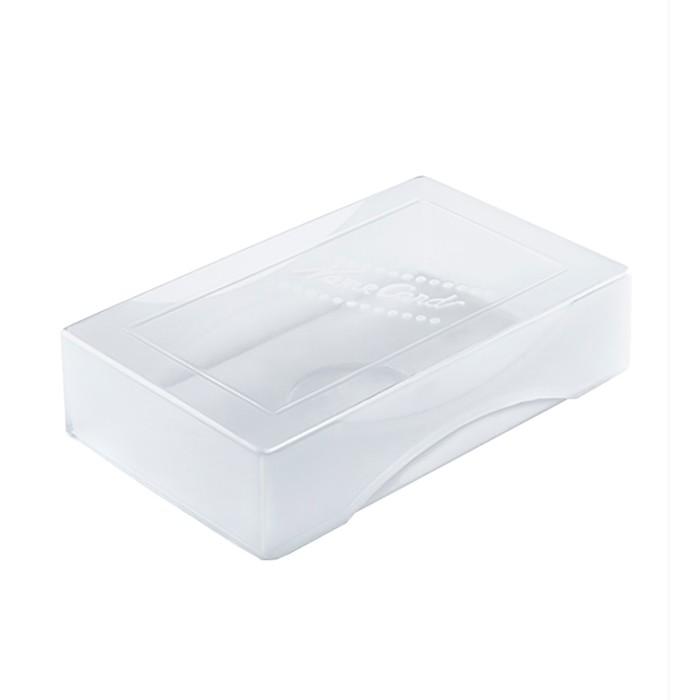 """Коробка для визиток Стамм """"Name card"""", 60 х 98 х 19 мм, прозрачная"""