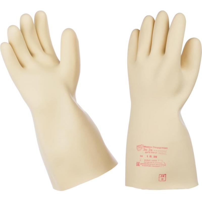 Перчатки резиновые диэлектрические класс защиты 0 латексные размер 4