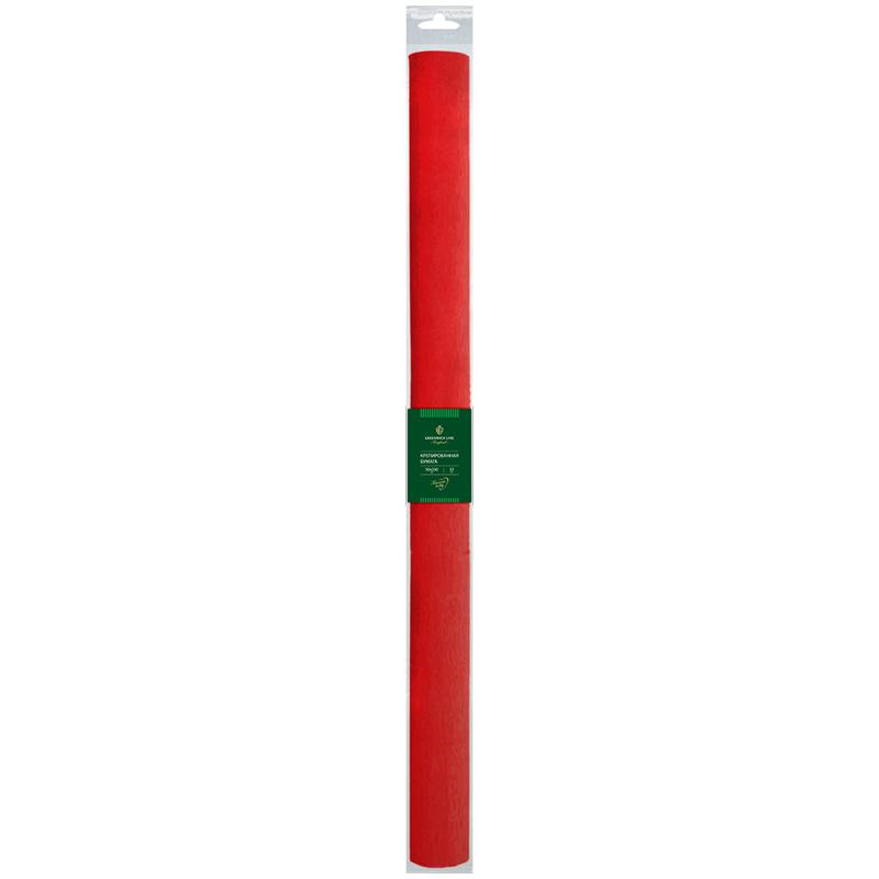 Бумага крепированная Greenwich Line, 50*250см, 32г/м2, красная, в рулоне, пакет с европодвесом