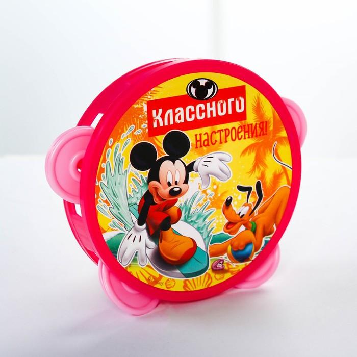 "Бубен ""Весёлые нотки"", Клуб Микки мауса, d=10 см, МИКС"