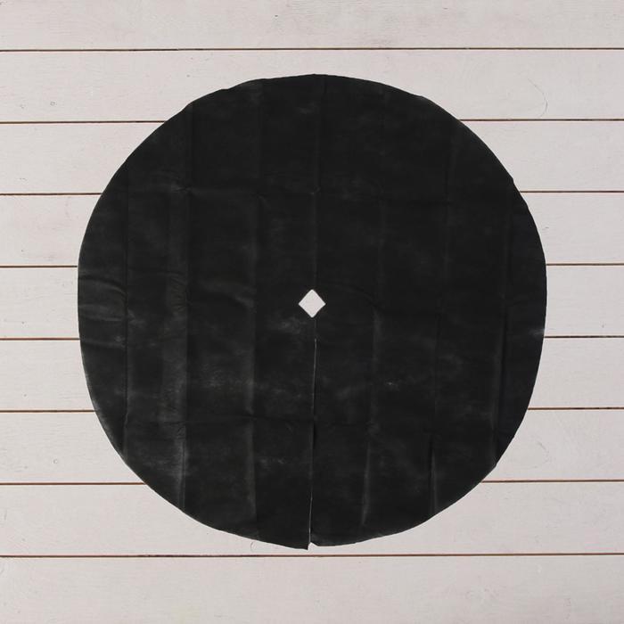 Круг приствольный, d = 1,2 м, спанбонд с УФ-стабилизатором, набор 2 шт., чёрный, Greengo, Эконом 20%