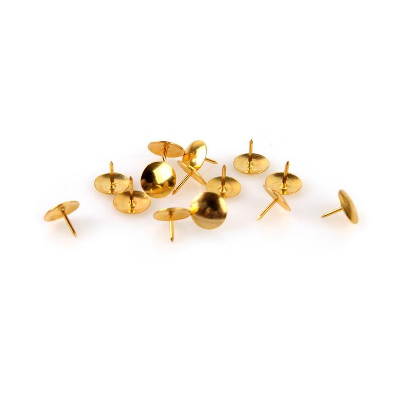 Кнопки Attache канцелярские  металлические золотые  100 штук в уп., карт.уп