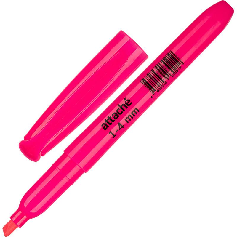 Маркер текстовыделитель розовый 1-3,9мм