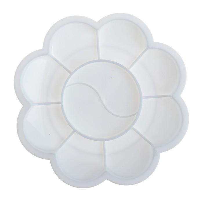 Палитра «Цветочек», 9 ячеек, «Ромашка», белая