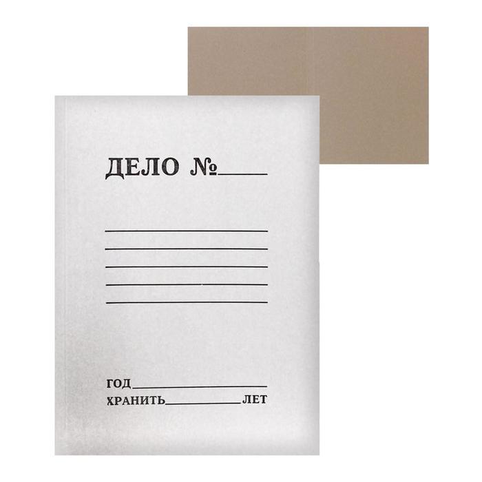 """Папка-обложка Calligrata """"Дело"""", 380г/м2, на 200л, белая, немелованная"""