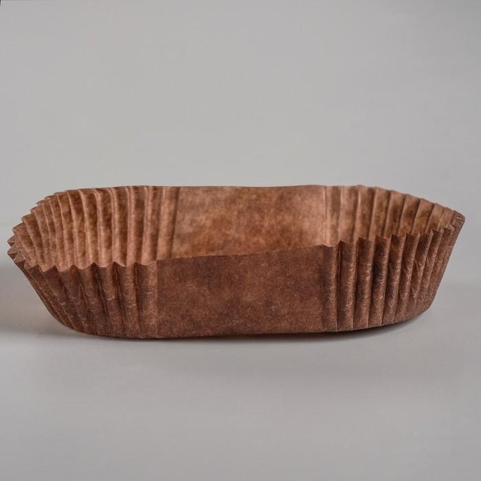 Тарталетка, коричневая, форма овал, 4,2 х 7,6 х 2 см