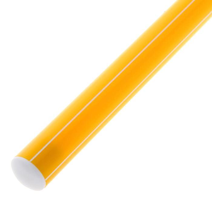 Палка гимнастическая 30 см, цвет: желтый