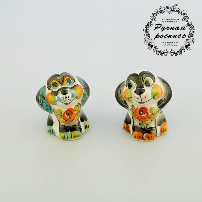 "Сувенир Собака ""Пикси"", гжель,цвет"