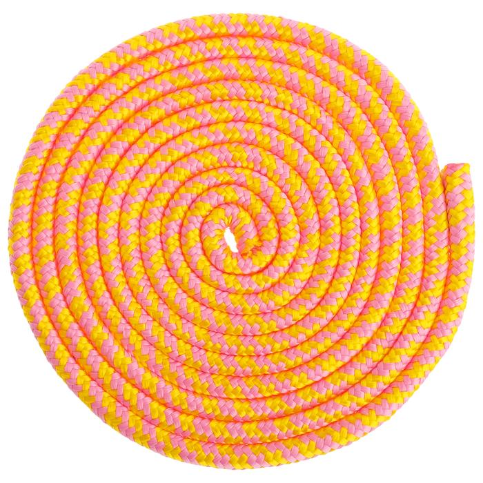 Скакалка для гимнастики 3 м, цвет розовый/жёлтый
