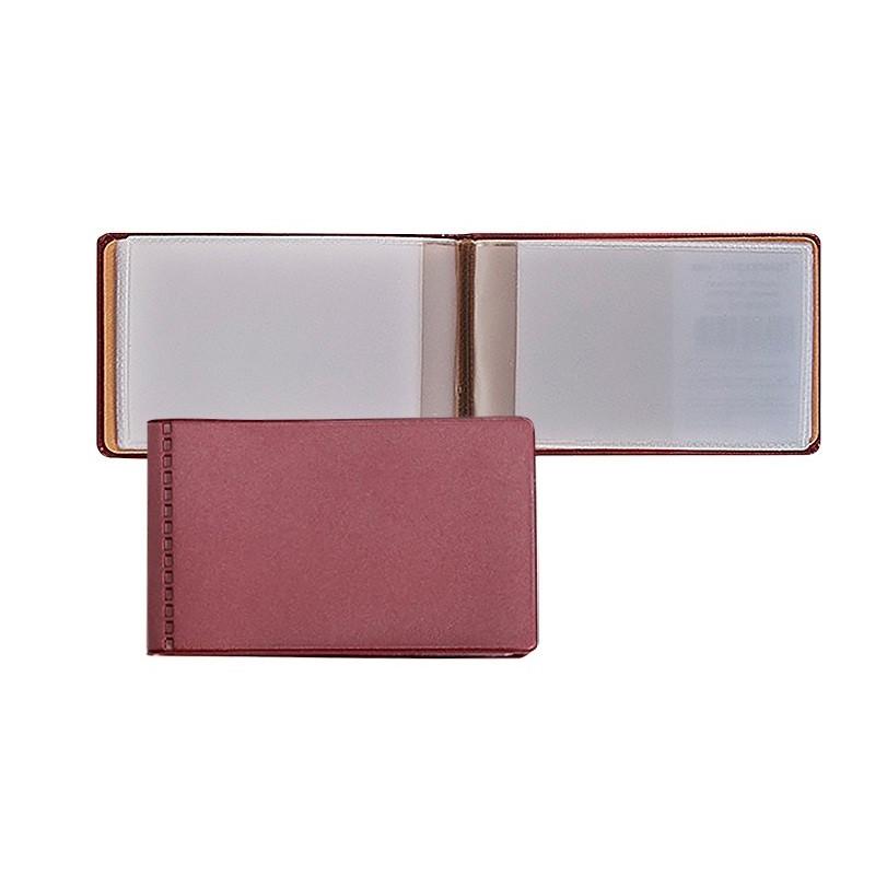 Визитница для 28 карт, горизонтальный, 60x100 мм, бордовый 2754-103