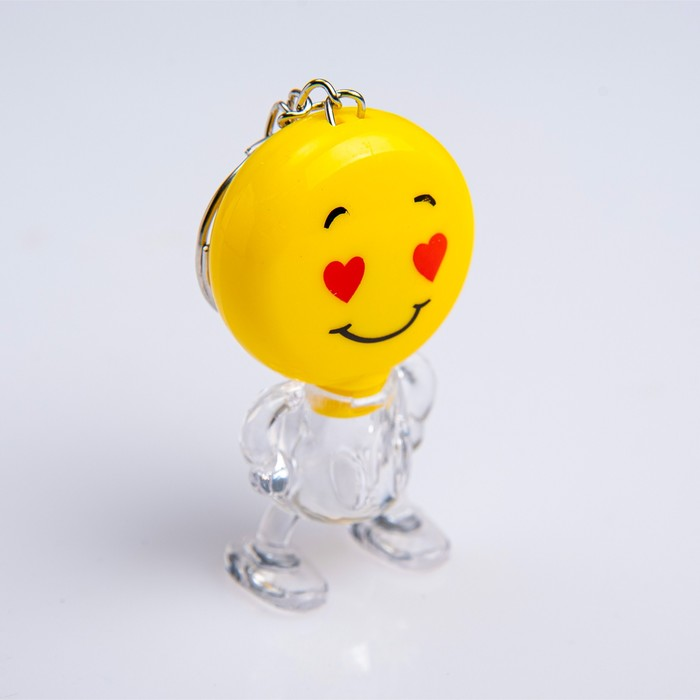 """Фонарик-брелок """"Смайлик"""", 1 LED, 3х5.5 см, микс"""
