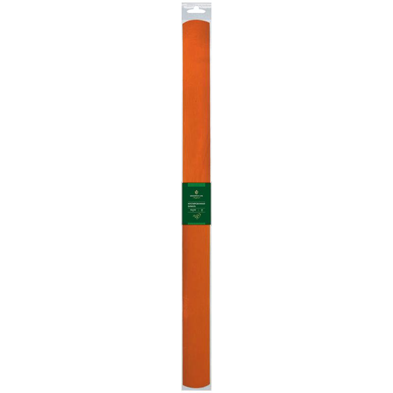 Бумага крепированная Greenwich Line, 50*250см, 32г/м2, оранжевая, в рулоне, пакет с европодвесом