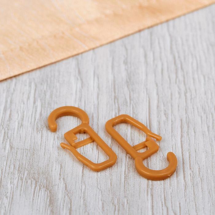 Крючок для штор на кольцо, 30 ? 13 мм, цвет бежевый
