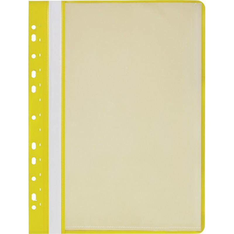 Папка файловая с перфорацией Attache Economy 10 желтая 30мкм файлы