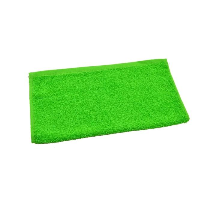 Полотенце махровое 30х30 см, салатовый-МИКС, хлопок 100%