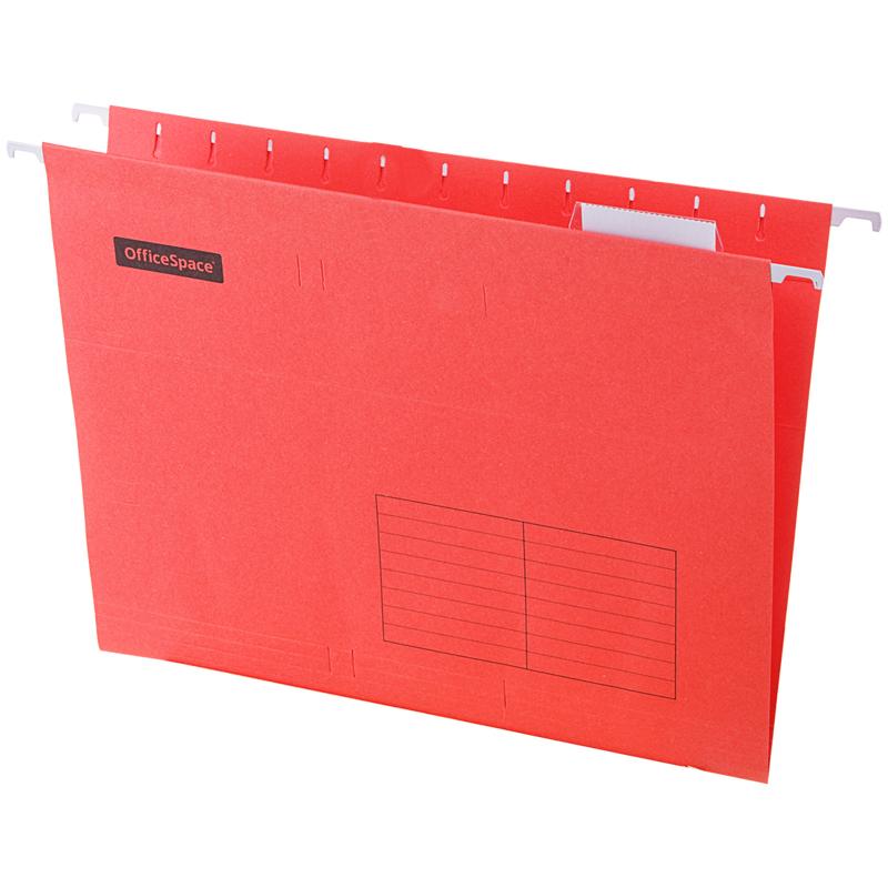 Подвесная папка OfficeSpace А4 (310*240мм), красная