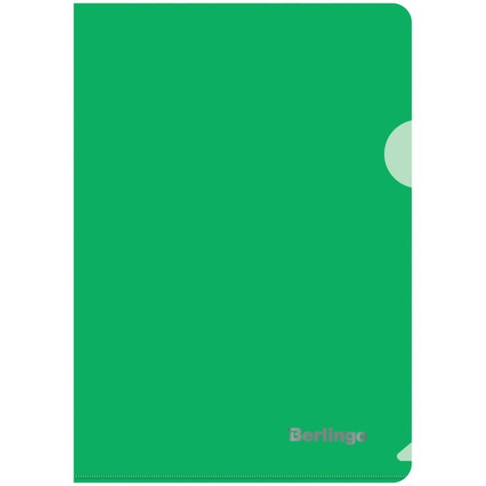 Папка-уголок А5, 180 мкм Berlingo, зелёная