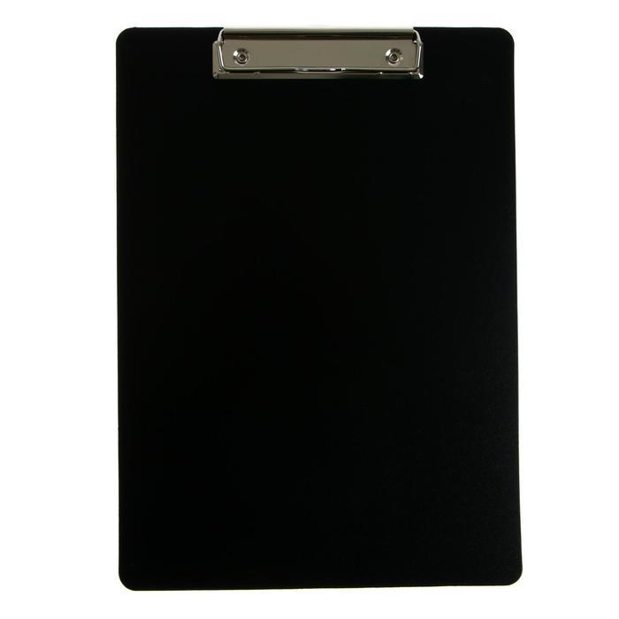 Планшет с зажимом А4, 1000 мкм, Calligrata эконом, пластик, черный (клипборд)