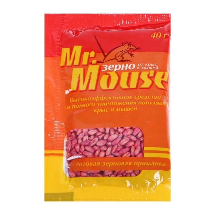 """Зерновая приманка от грызунов """"MR. MOUSE"""", 40 г"""