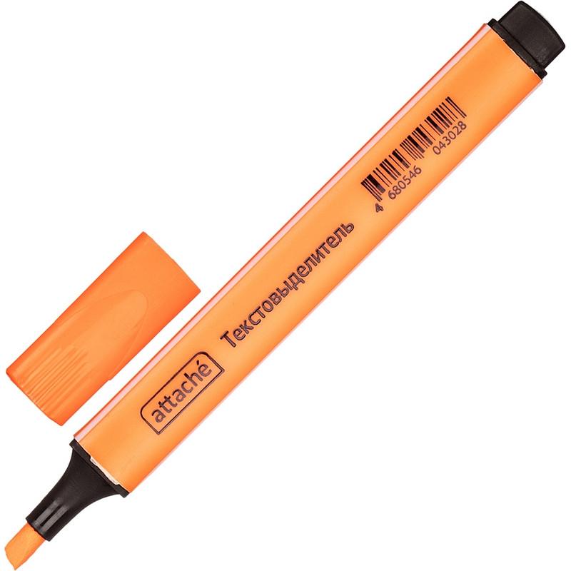 Маркер текстовыделитель ATTACHE оранжевый 1-4 мм треугольный