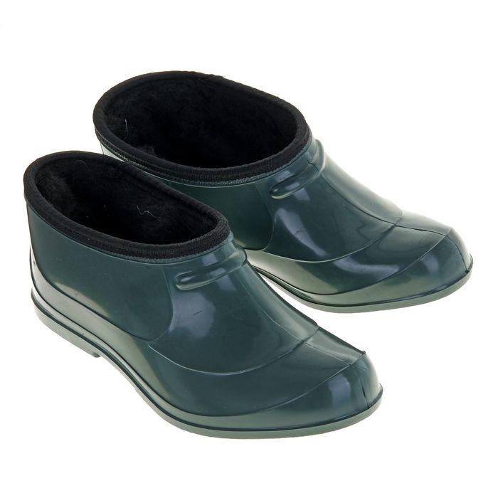 Галоши ПВХ, цвет зеленый размер  36