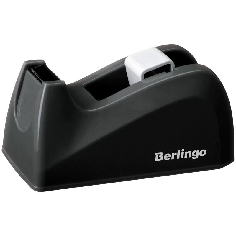 Диспенсер настольный Berlingo для канцелярской клейкой ленты, черный