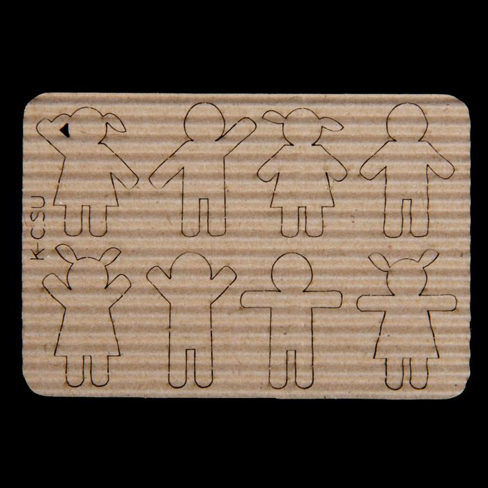 """Чипборд картон """"Пиктограммы. Девочки и мальчики"""" 8шт,  1,9х2,4 и 1,8х2,6 см"""