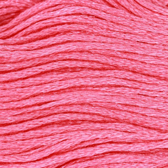 Нитки мулине, 8 ± 1 м, цвет ярко-розовый №956