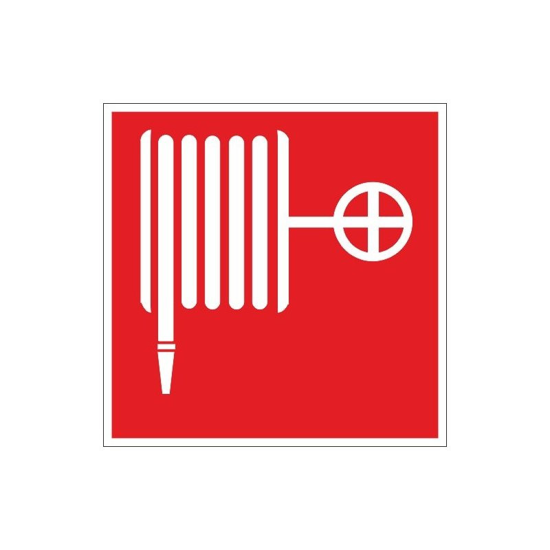 Знак безопасности F02 Пожарный кран (плёнка, 100х100)