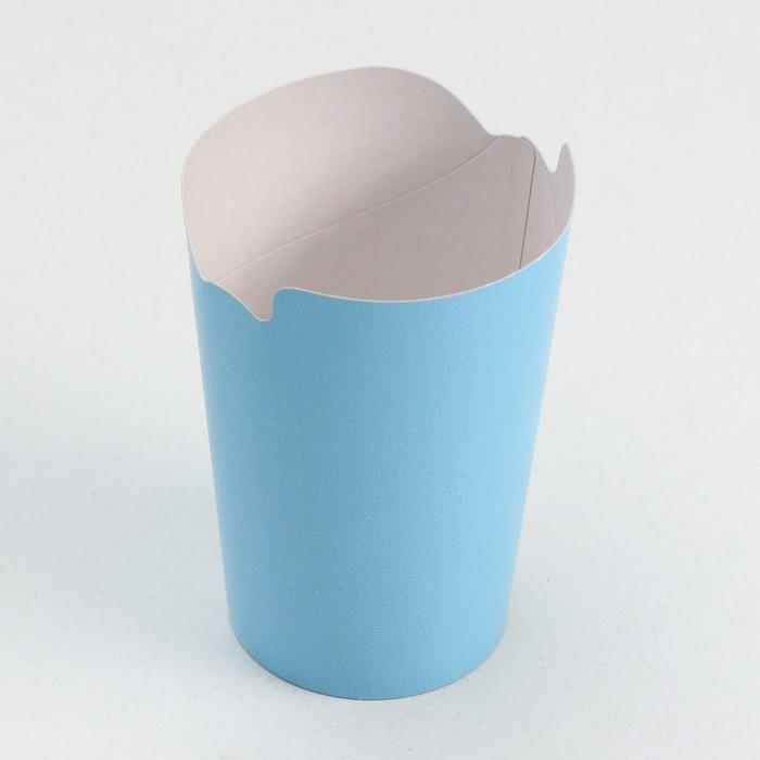 Упаковка для картофеля фри, цвет голубой, 8 х 3,5 х 13,5 см